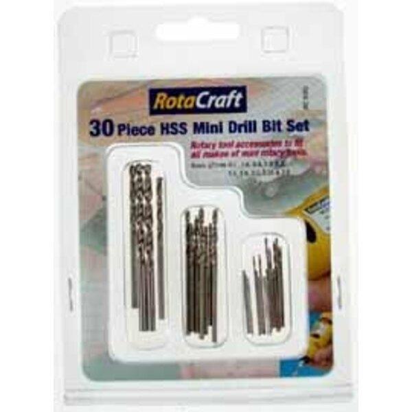 30 piece Mini Drill bit set. 0.5/0.6/0.8/1.0/1.2/1.5/1.8/2.0/2.35/3.0. Fits all types of mini rotary tools