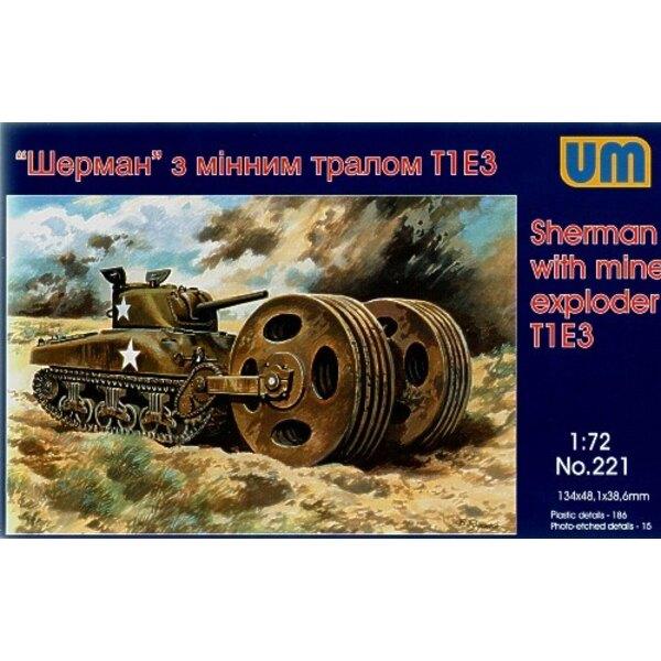 Sherman with mine explorer T1 E3