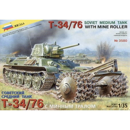 T-34/76 with mine roller