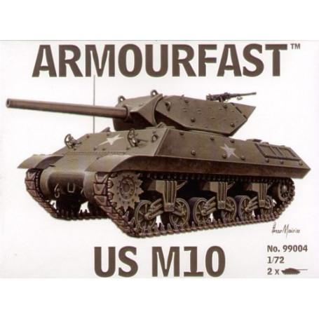 M10 US Tank Destroyer: the pack includes 2 snap together tank kits