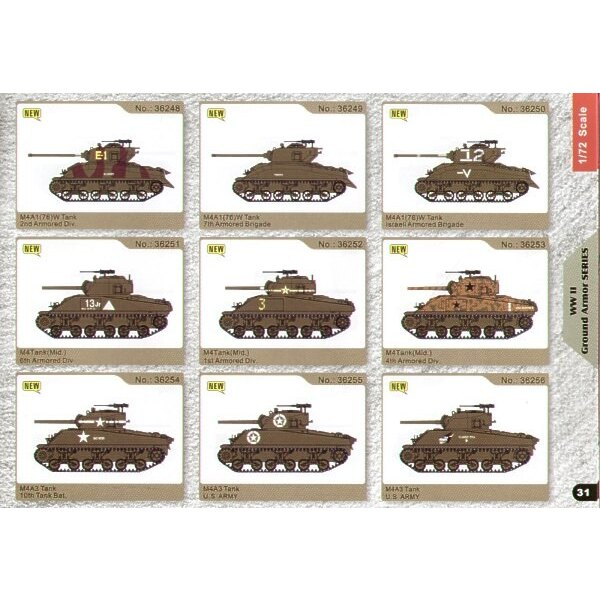 Sherman M4 4th Armoured Division