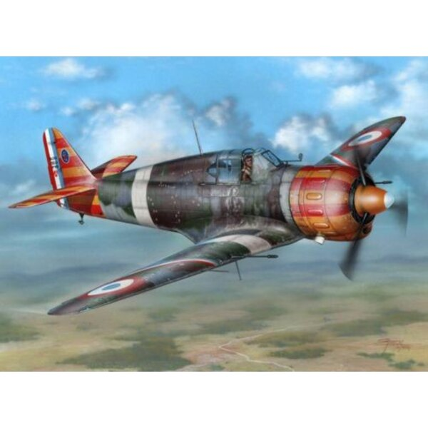 Bloch MB.152C1 Red & Yellow Stripes