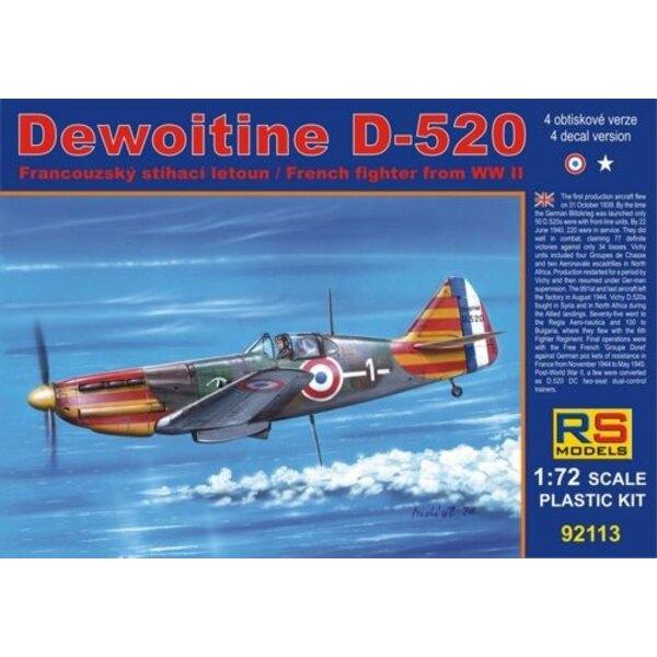 Dewoitine D.520. Decals Vichy