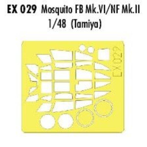 de Havilland Mosquito Mk.VI/NF.II (toebehoren voor modelbouwsets van Tamiya) (made from yellow Kabuki tape produced in Japan)