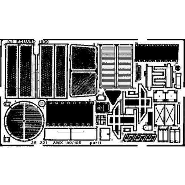 AMX-30/105 (toebehoren voor modelbouwsets van Heller)