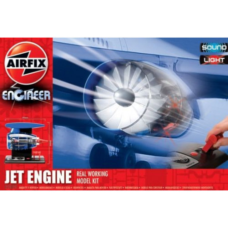 Jet Engine with spinning turbo fans and a variable speed control. Real working model kit