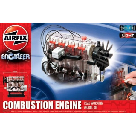 Internal Combustion Engine. Real working model Kit with light and sound