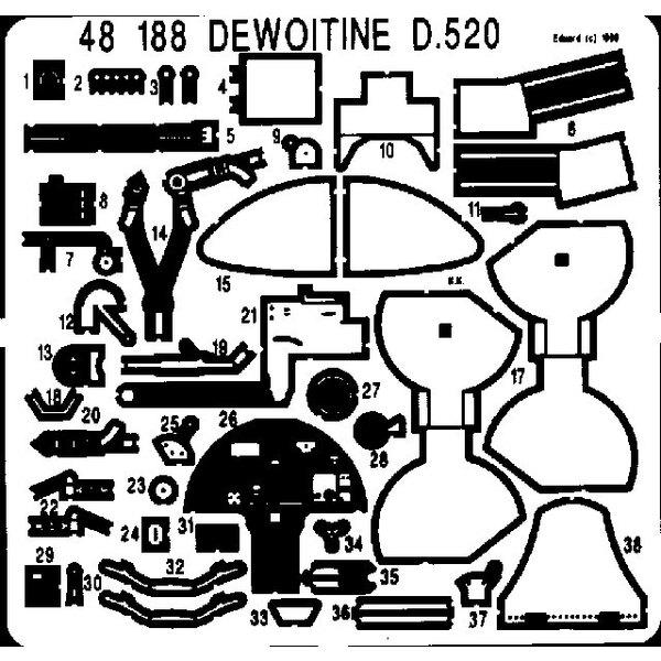 Dewoitine D.520 (toebehoren voor modelbouwsets van Tamiya)