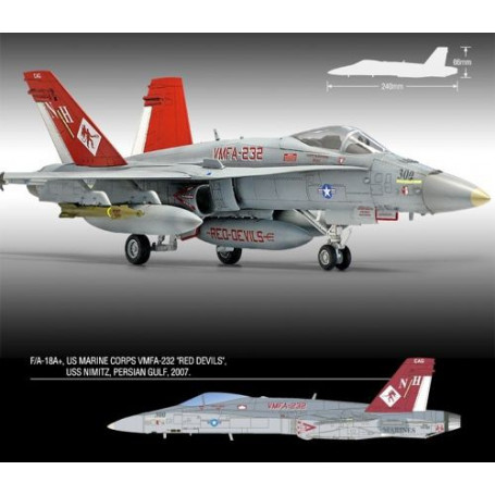 McDonnell-Douglas F / A-18 Hornet VMFA-232 + 'Rode Duivels' Limited Edition