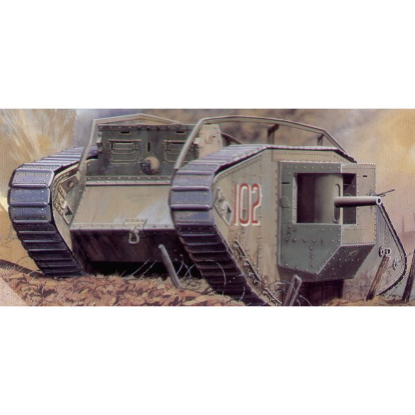 Mk.IV ′Male′ WWI heavy tank Decals: British/captured Germ