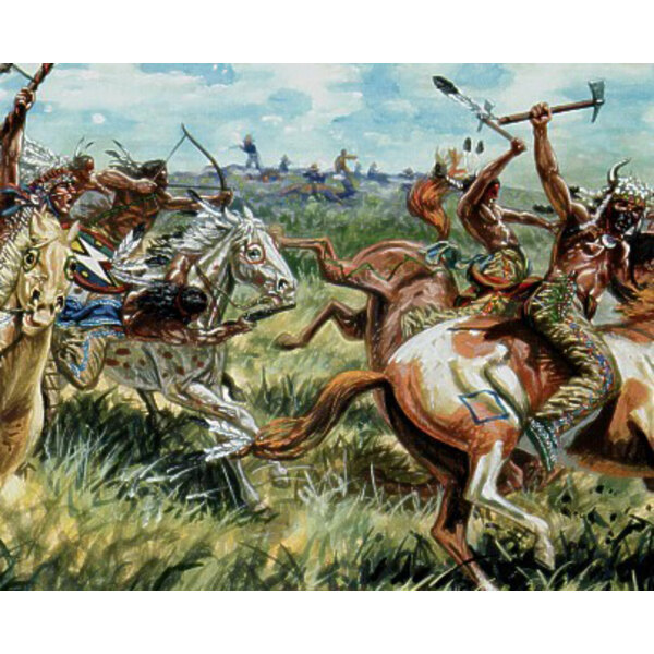Sioux Indians mounted (12 mounted figures)