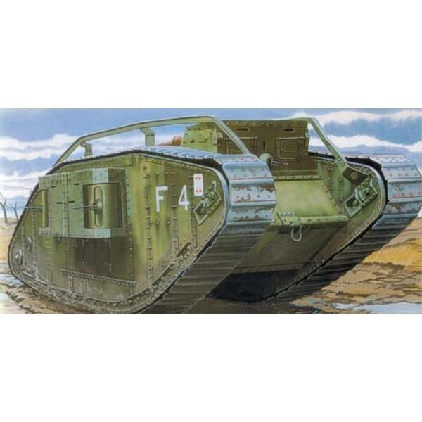 Mk.IV ′Female′ WWI heavy tank Decals: British/captured Germ