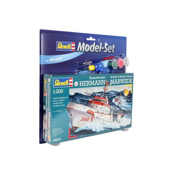DGzRS Hermann Marwede Model Set - box containing the model, paints, brush and glue