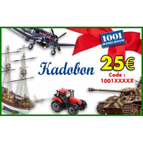 Cadeaubon van 25 euro