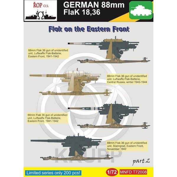 Duitse 88mm Flak 18,36 - Flak aan het Oostfront Part 2