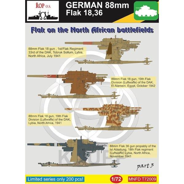 Duitse 88mm Flak 18,36 - Flak op het Battlefied Noord-Afrika, deel 3