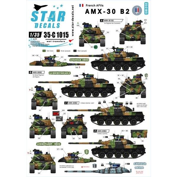 AMX-30B2 Franse Main Battle Tank.Franse Koude Oorlog en moderne markeringen.
